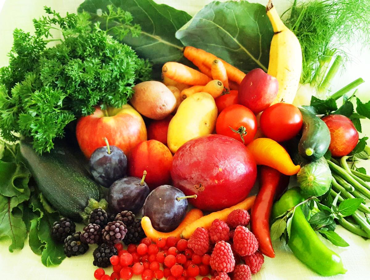 Natürliche Nahrungsmittel (Obst, Gemüse, Getreide,…) enthalten Biophotonen.